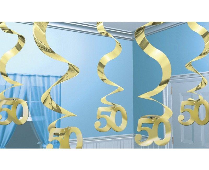 Decoratie spiraal 50 jaar goud