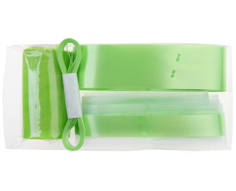 Trouwauto decoratie set appel groen, 6-delig