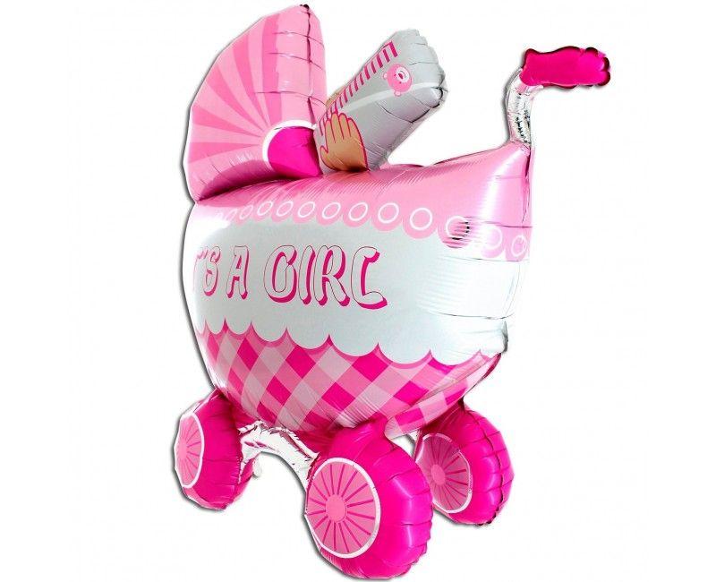 Folieballon Buggy 3D it's a girl