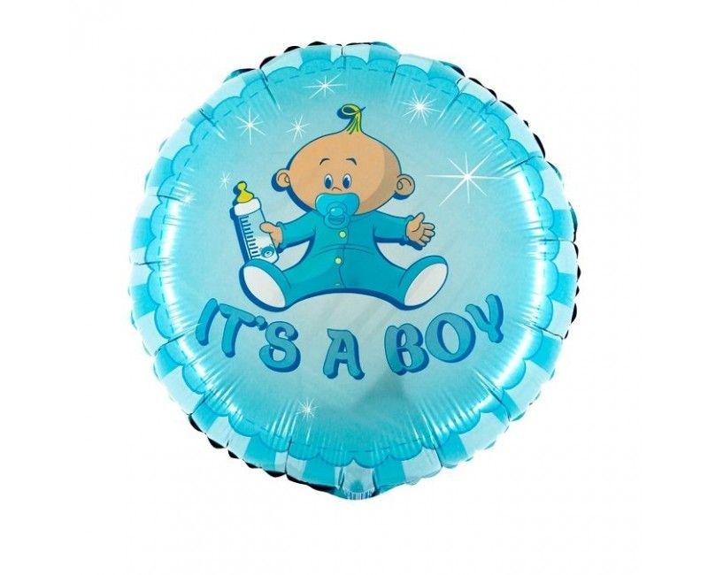 Folieballon it's a boy bottle