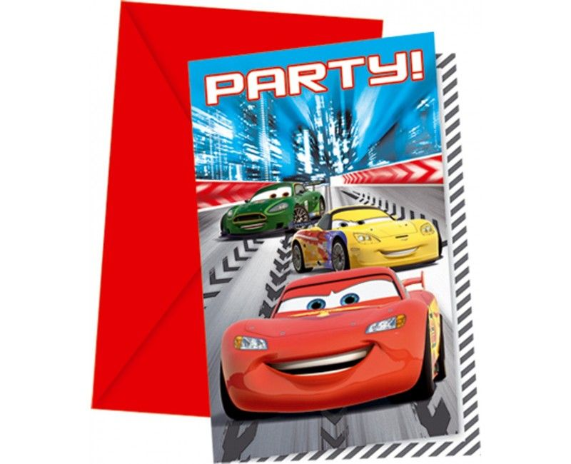 Uitnodigingen Cars