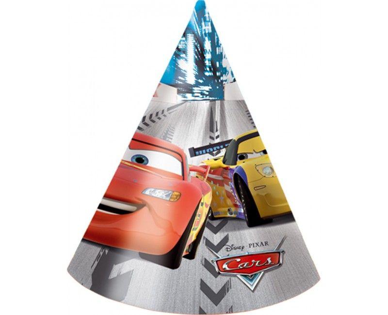 Feesthoedjes Cars, 6 stuks
