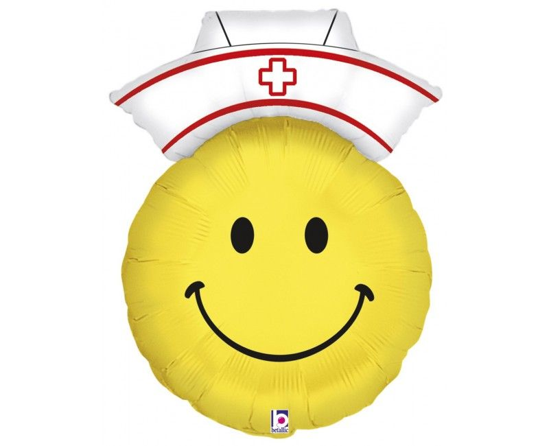 Folieballon 70cm emoticon Zuster