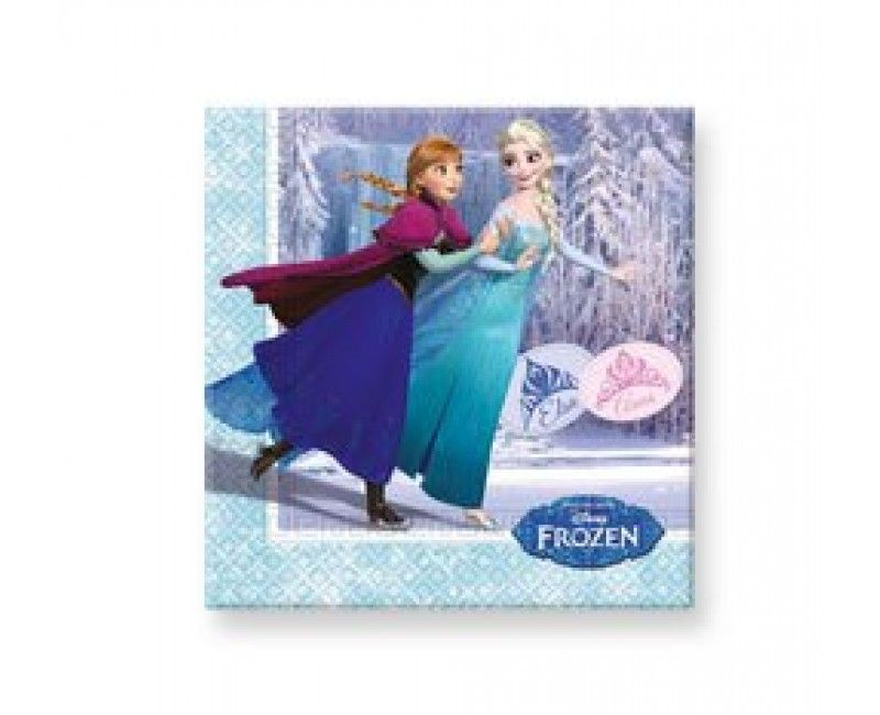 Servetten Frozen Schaatsen