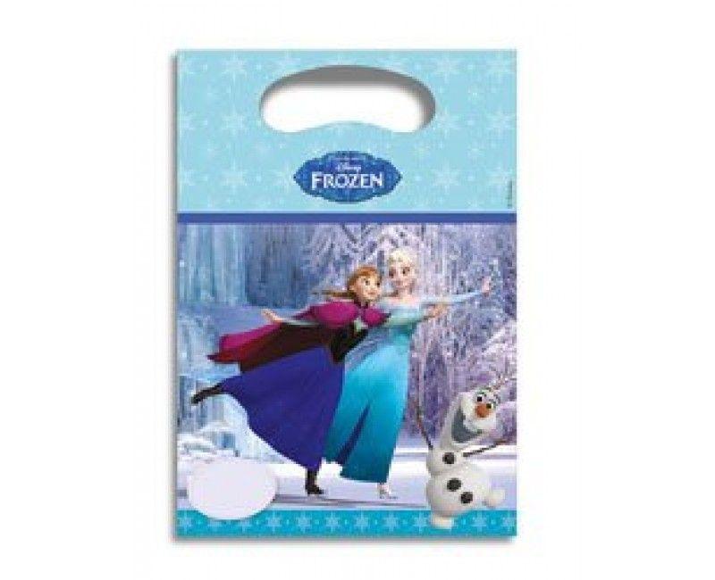 Uitdeelzakjes Frozen Schaatsen, 6 stuks