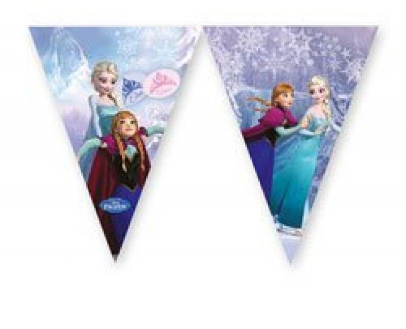 Vlaggenlijn Frozen Schaatsen 2,3 meter