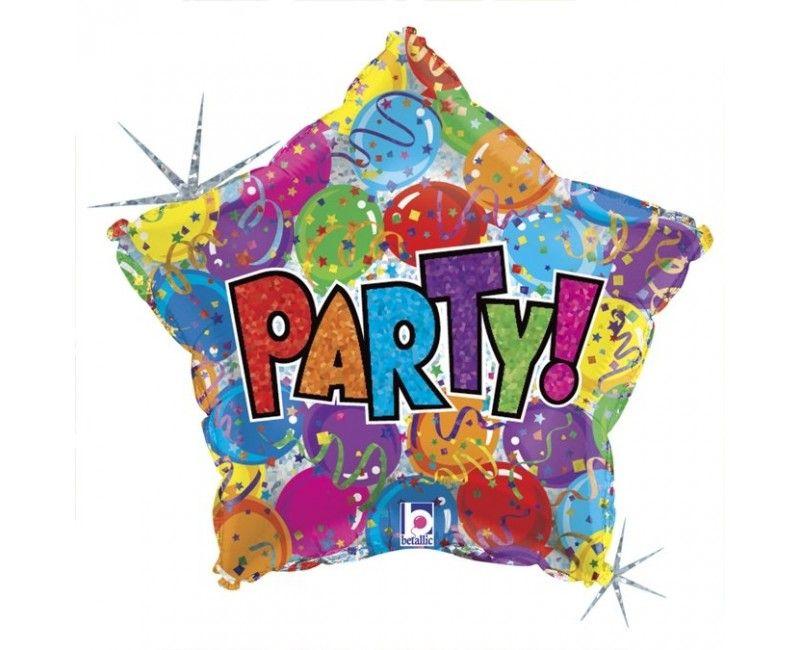 Folieballon 48cm Party ster ballonnen