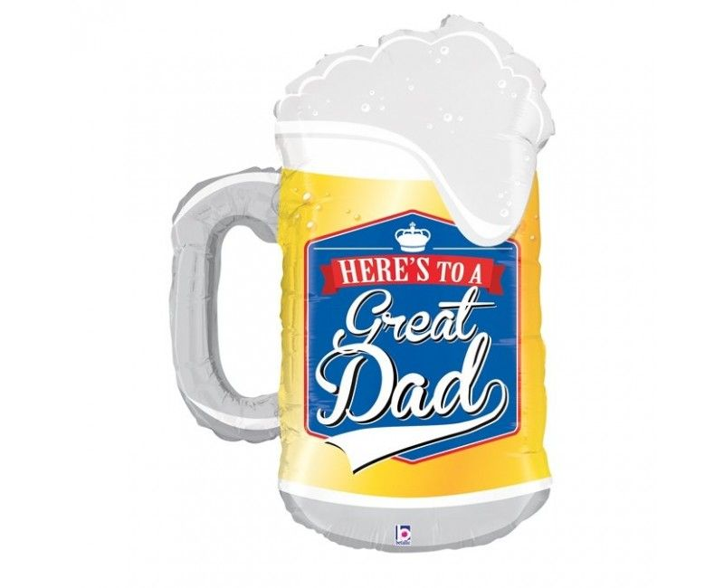 Folieballon 86cm Great dad beer mug