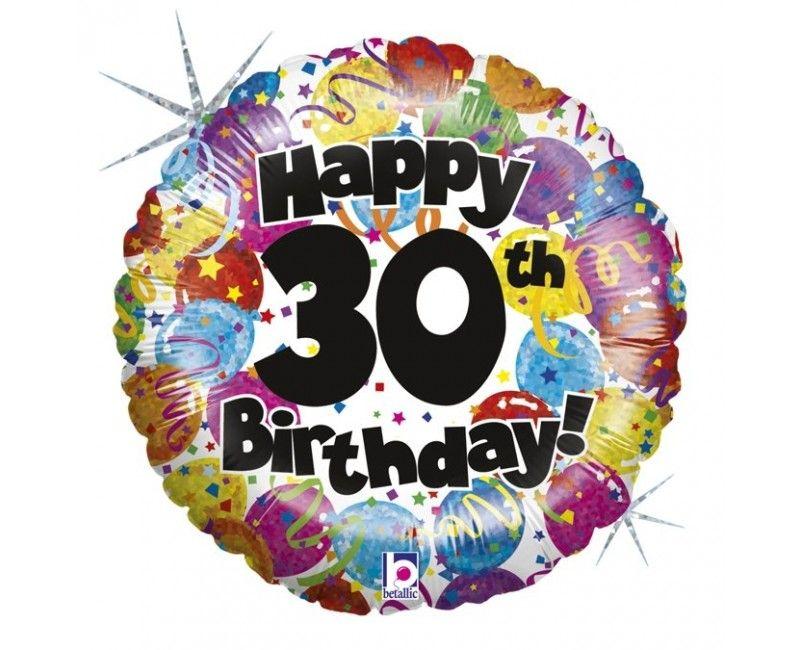 Folieballon 45cm Happy 30th Birthday