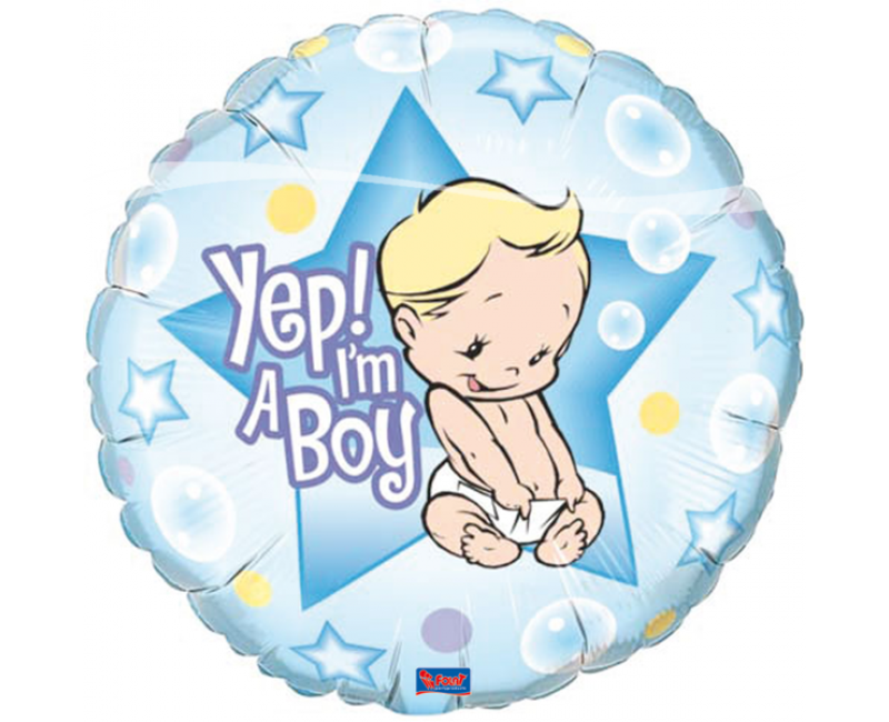 Folieballon 45cm Yes I'm a boy