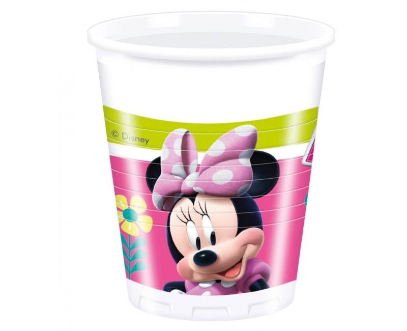 Bekers Minnie Mouse Happy, 8 stuks