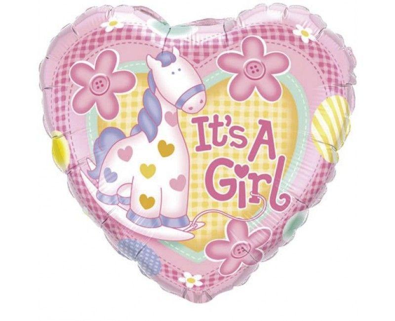 folieballon It's a girl giraf