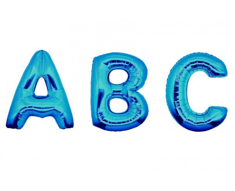 Folieballon letters 100cm blauw