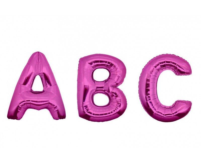 Folieballon letters 35cm roze