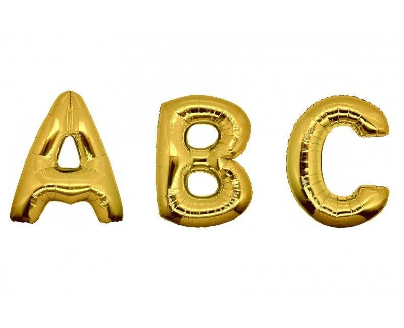 Folieballon letters 35cm goud