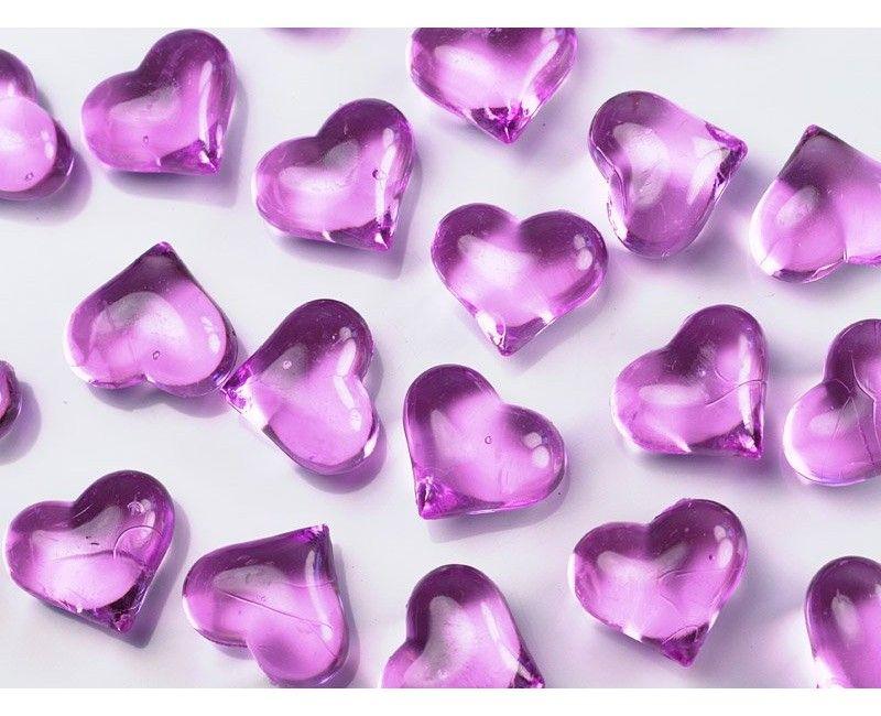 Crystal heart dark pink