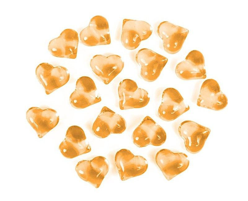 Crystal heart gold
