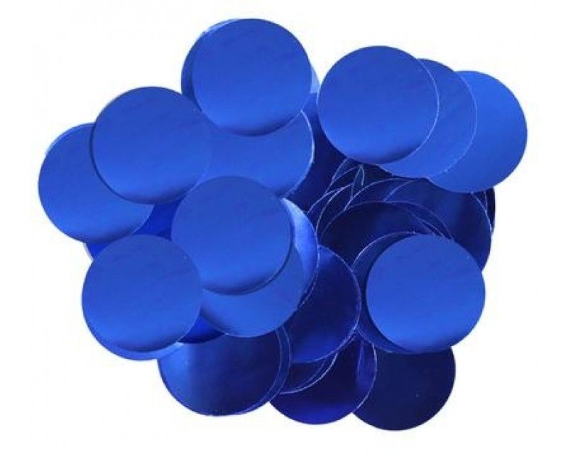 Ballon confetti Blue 30mm, zakje 15 gram