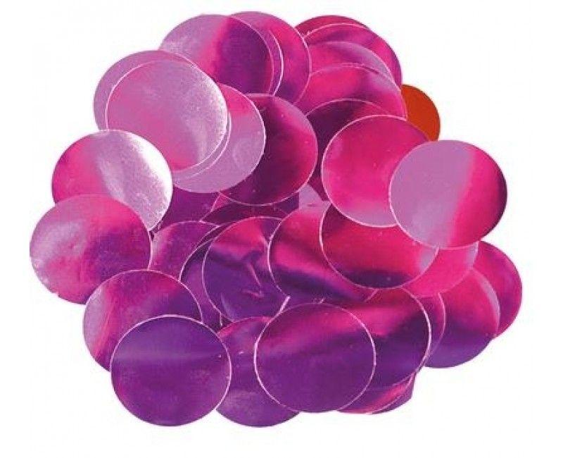 Ballon confetti roze 30mm, zakje 15 gram