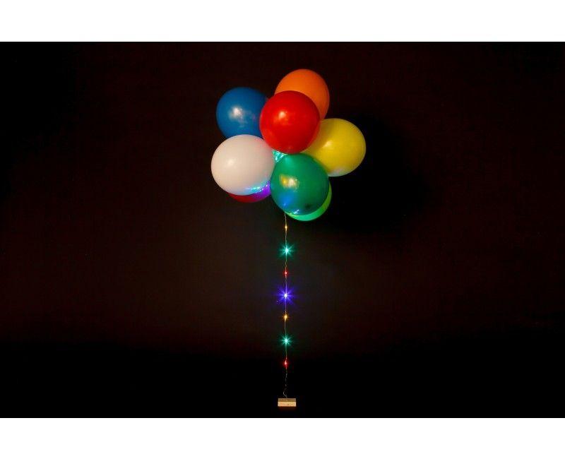 Ballon LED verlichting multi continu 1 meter