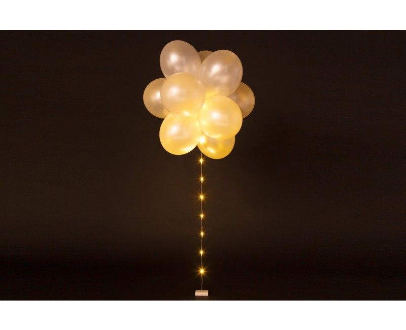 Ballon LED verlichting warm wit continu 1 meter