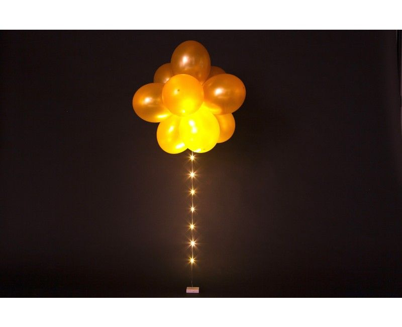 Ballon LED verlichting warm wit flashing 1 meter