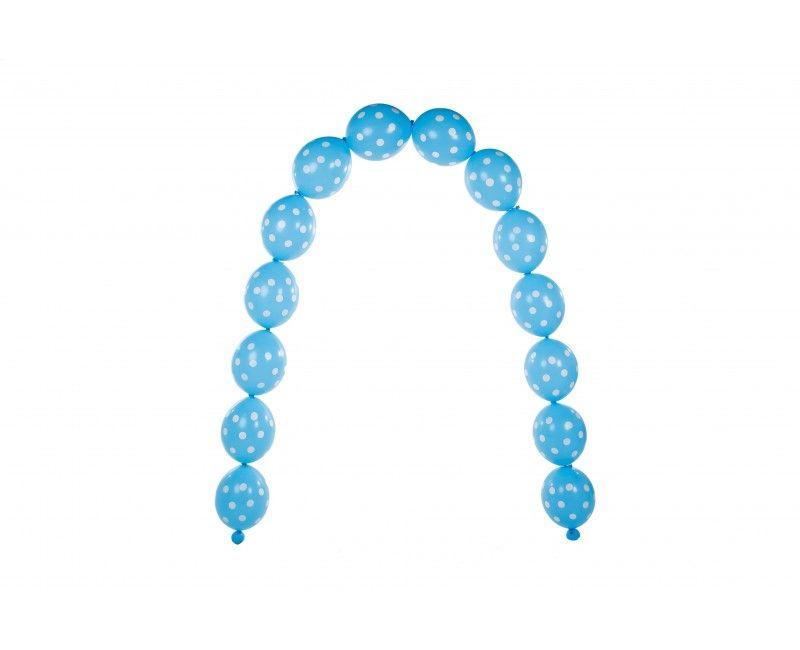 Ballonboog Polka dots blue
