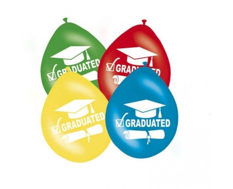 Ballonnen graduated multicolour, 8 stuks