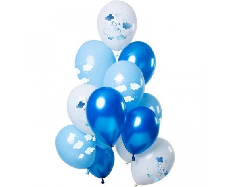 Ballonnen set Baby Cloud Blue