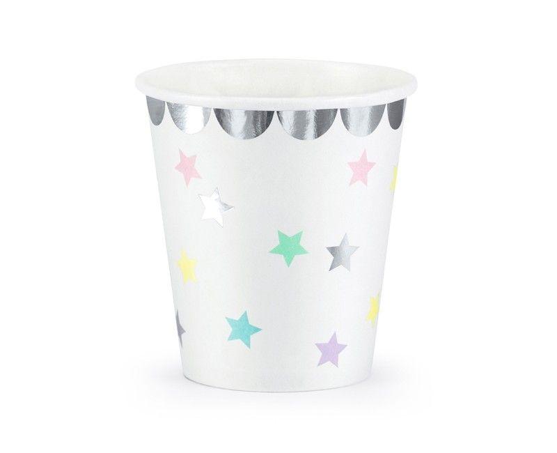 Beker Unicorn met sterren mix, 6 stuks