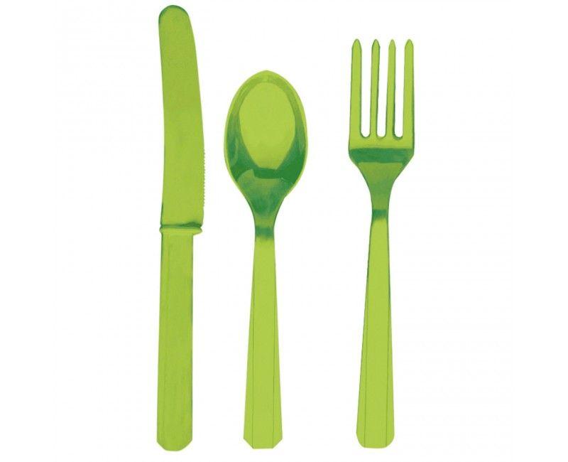 Bestekset kiwi groen 24 delig