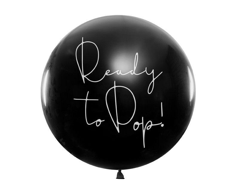 Gender Reveal reuzeballon Ready to Pop! (jongen)