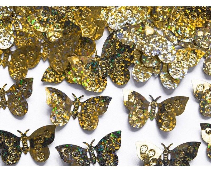 Tafelconfetti vlinders holografisch