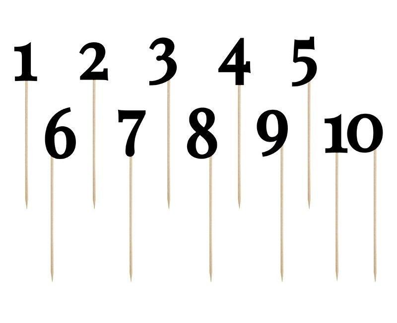 Cijfers 1 t/m 10 op stokje