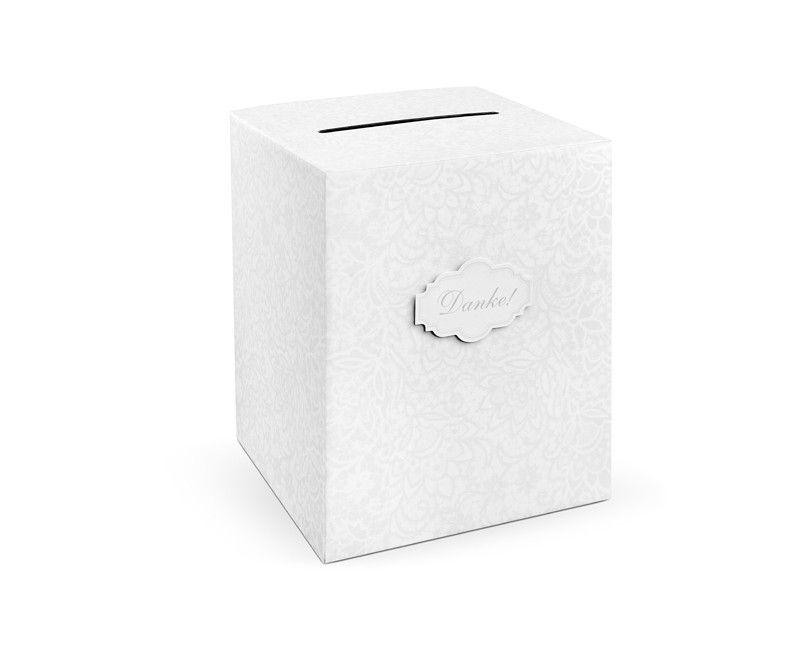 """Enveloppendoos nr. 5 met tekst """"Danke"""" 25 x 25 x 30cm"""