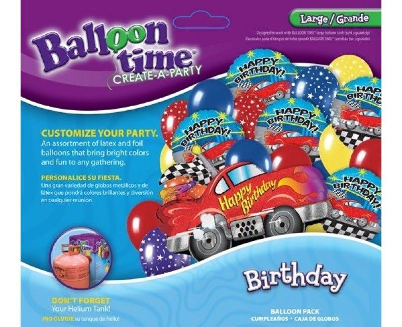 Ballonnen combi set race-auto XL