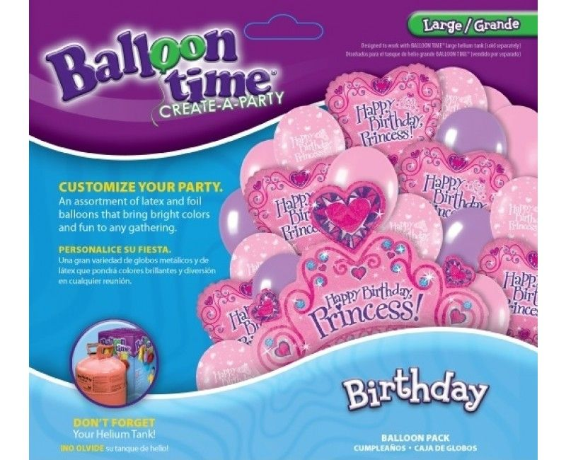 Ballontros groot Birthday princess