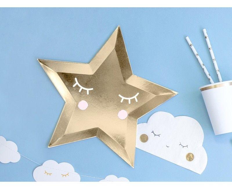 Borden Little Star ster goud, 6 stuks
