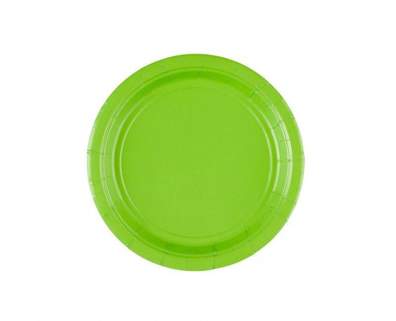 Bordje 18cm kiwi groen, 8 stuks