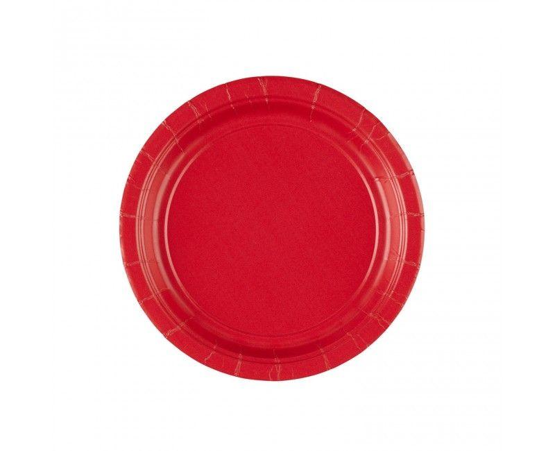 Bordje 18cm appel rood, 8 stuks