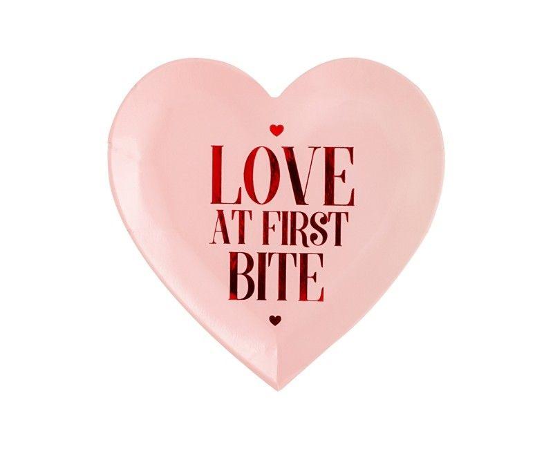 Bordje 18cm Love at first Bite, 6 stuks