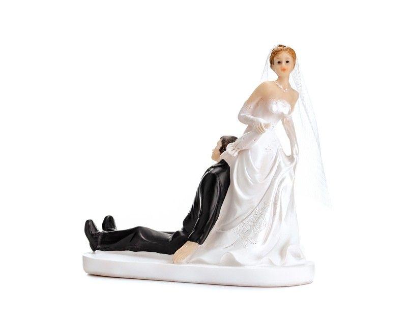 Bruidstaart topping bruidspaar met paraplu