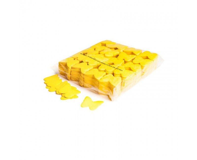 Slowfall paper confetti vlinders geel
