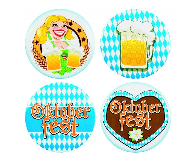 Buttons Oktoberfest, 4 stuks