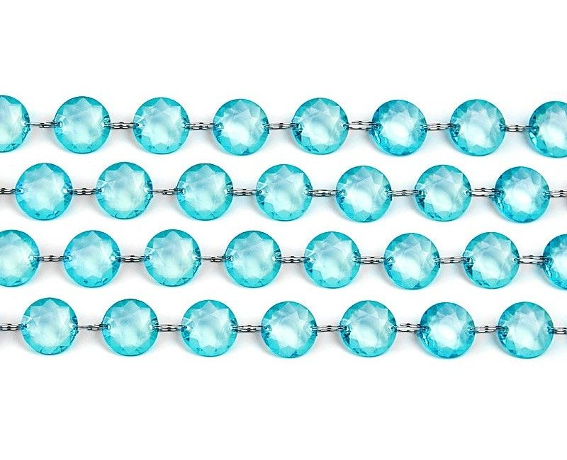 Crystal garland turquoise