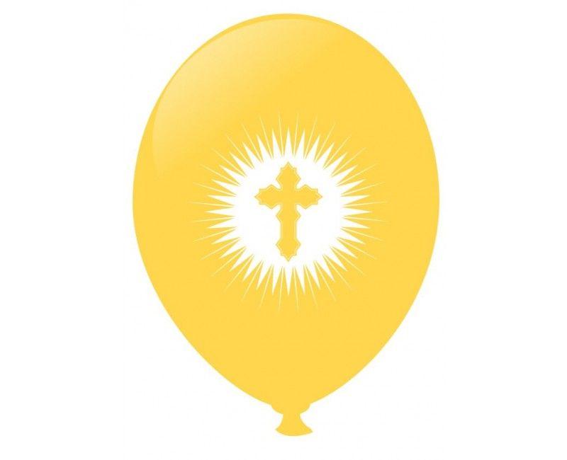 Communie ballonnen ocher