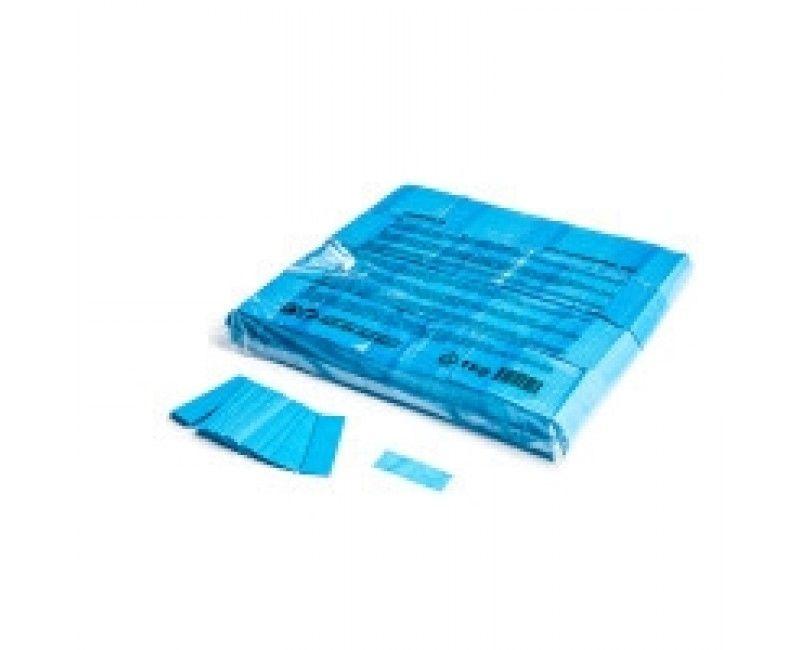 Slowfall paper confetti lichtblauw rectangles 17 x 55mm, 1 kg