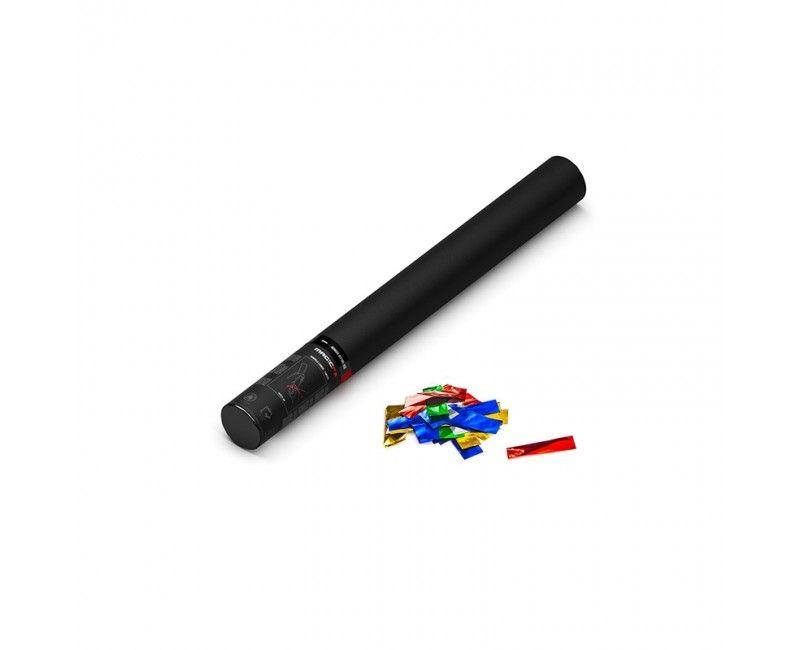 Confettishooter 50 cm multicolour metallic