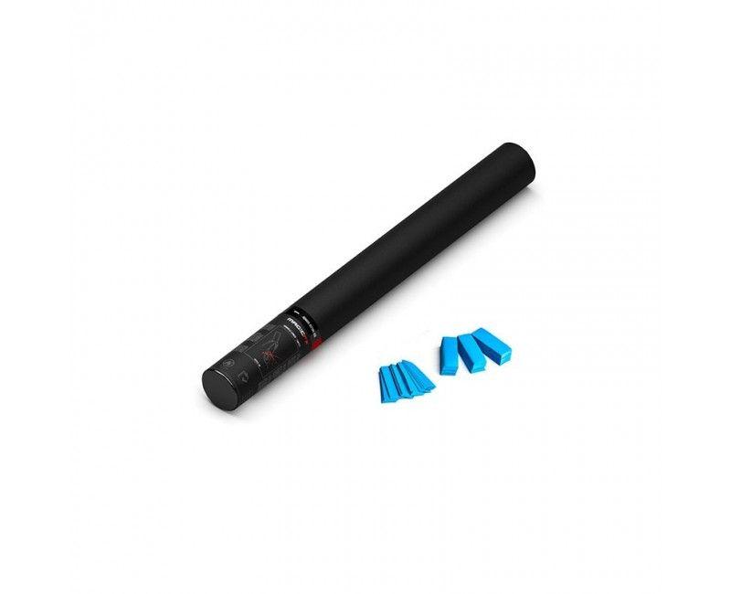Confettishooter 50 cm lichtblauw