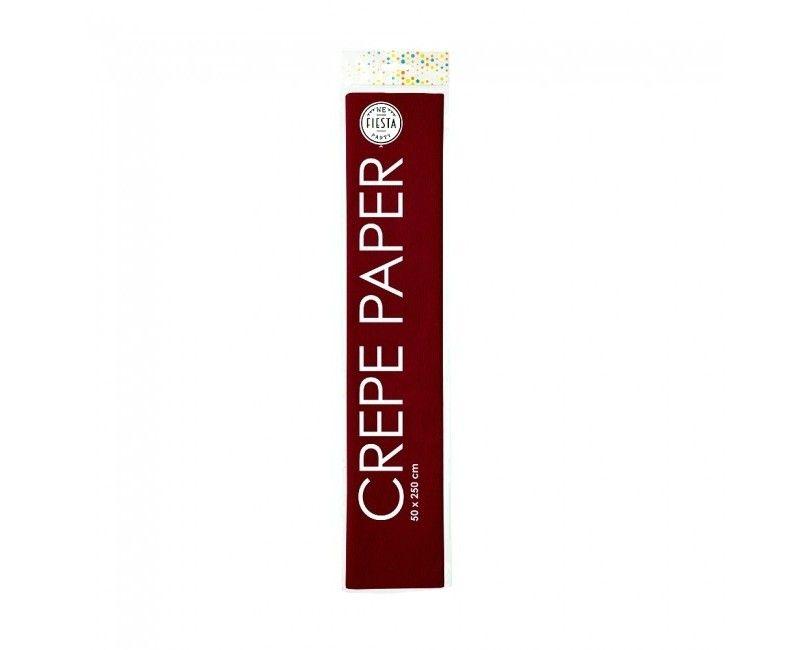 Crêpepapier donker rood 50 x 250cm